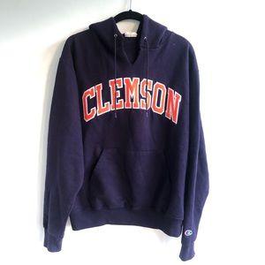 Clemson University Champion Hooded Sweatshirt M